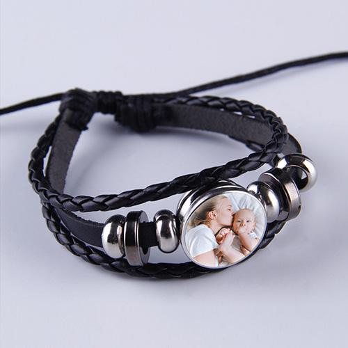 Custom Photo Leather Bracelet