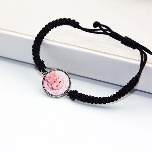 Custom Hand Knitted Photo Bracelet