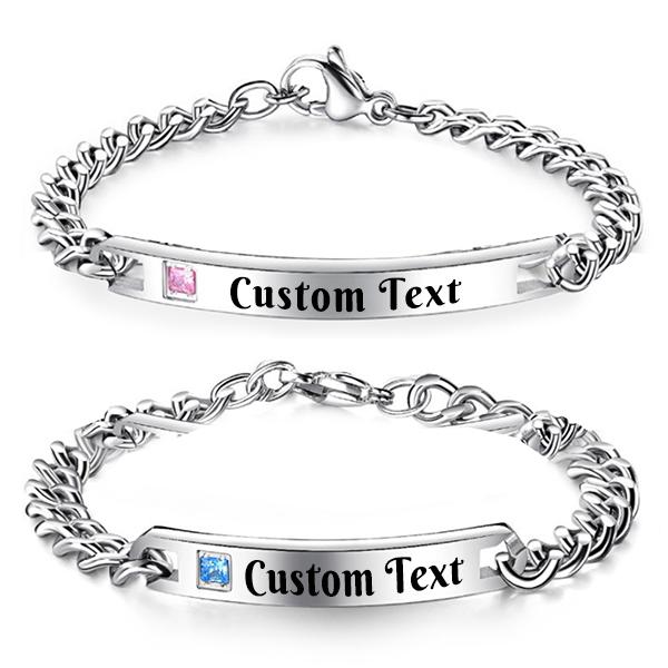 Custom Monogram Couple Bracelet