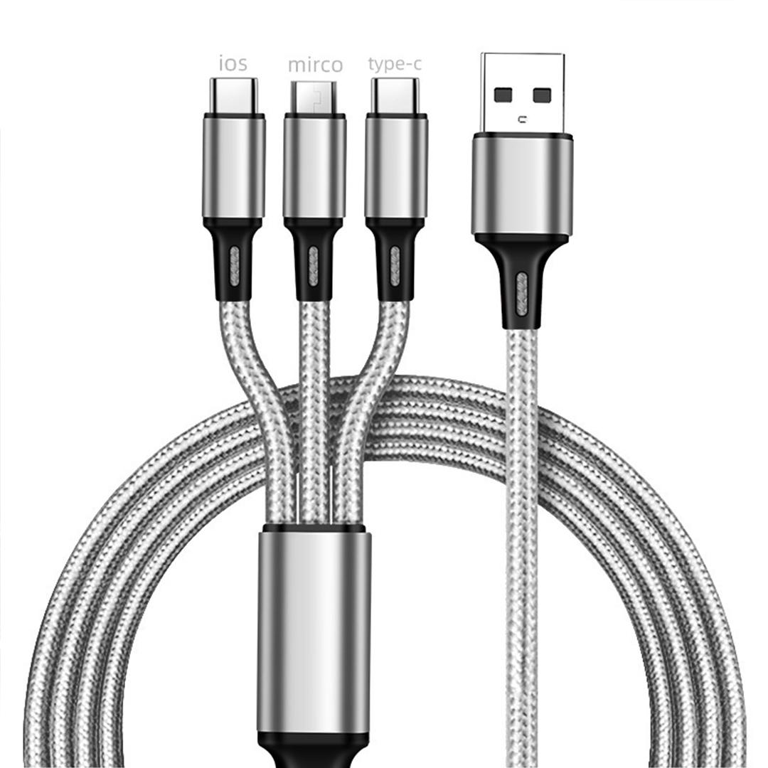 4FT Universal 3 in 1 Multiple USB Cable Fast Charging Cord