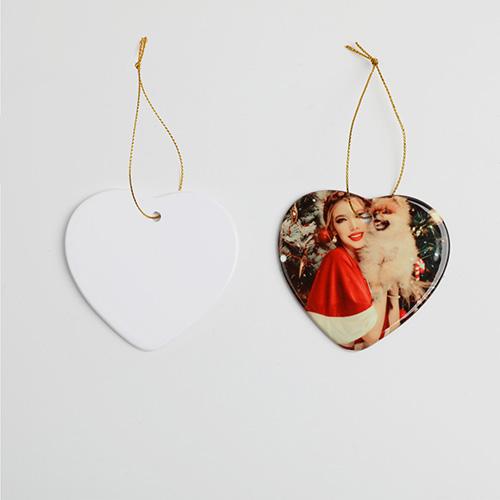 Custom Heart Ceramic Ornaments