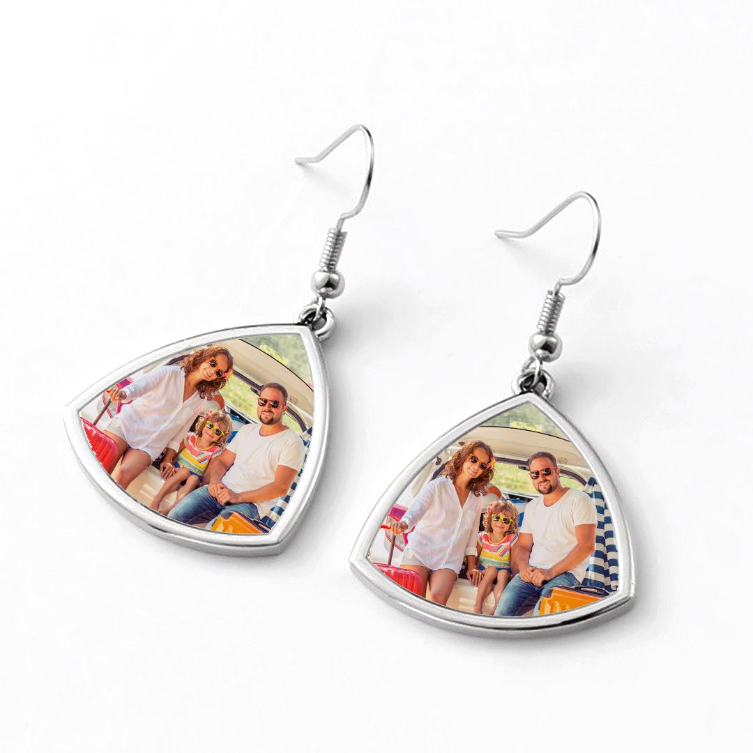 Custom Photo Drop Earrings