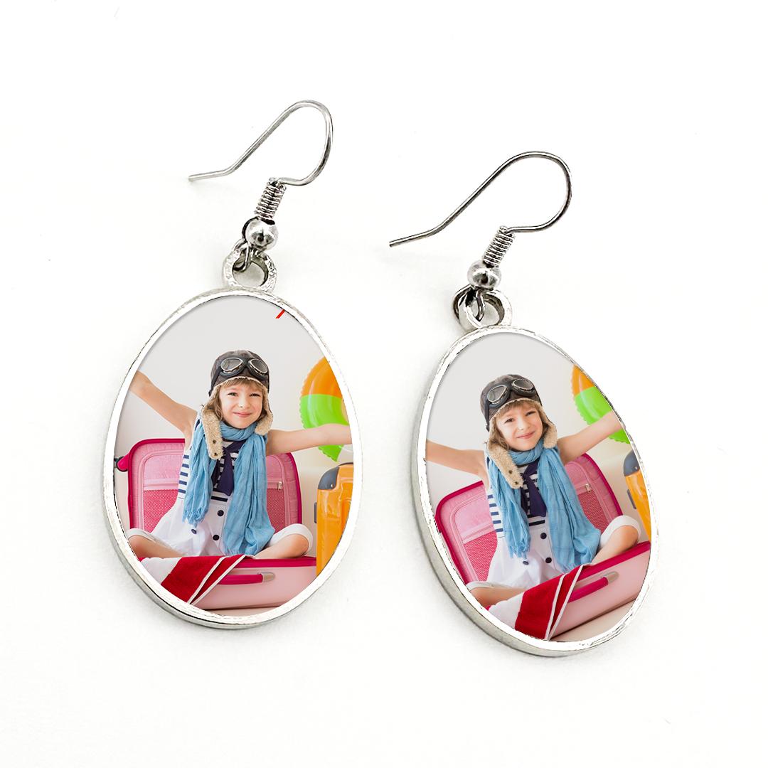 Custom Photo Triangle Earrings