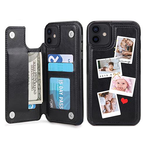 Custom for iPhone 12 Mini Card Holder Wallet Case