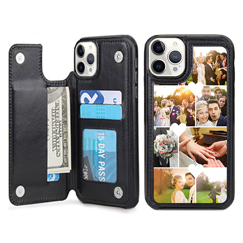 Custom for iPhone 12 Pro Max Card Holder Wallet Case