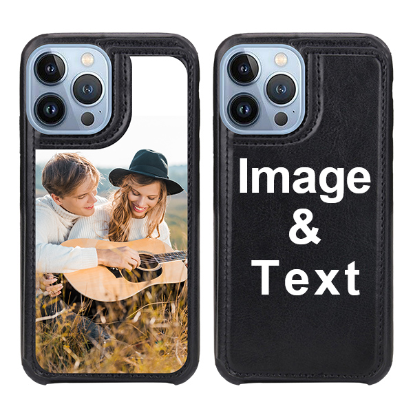 Custom for iPhone 13 Pro Max Card Holder Wallet Case