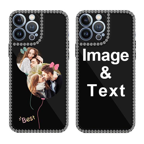 Custom for iPhone 13 Pro Max Bling Rhinestone Case