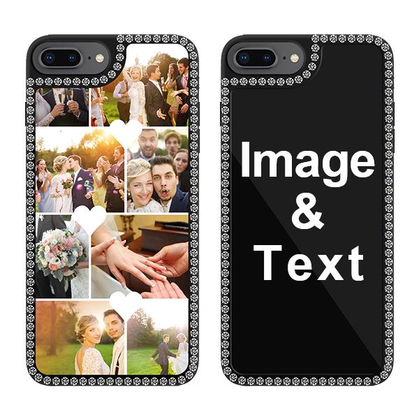 Custom for iPhone 7 Plus Bling Rhinestone Case