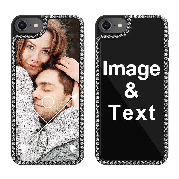 Custom for iPhone 8 Bling Rhinestone Case