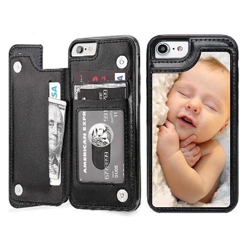 Custom for iPhone SE 2020 Card Holder Wallet Case