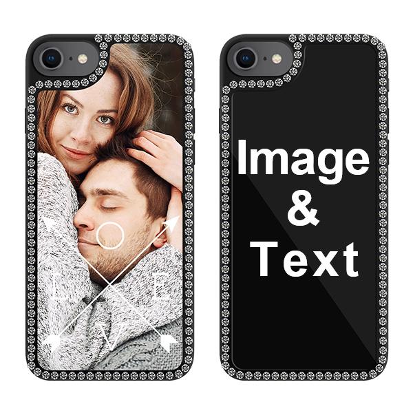 Custom for iPhone SE 2020 Bling Rhinestone Case