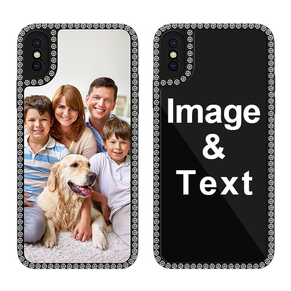Custom for iPhone XS Bling Rhinestone Case