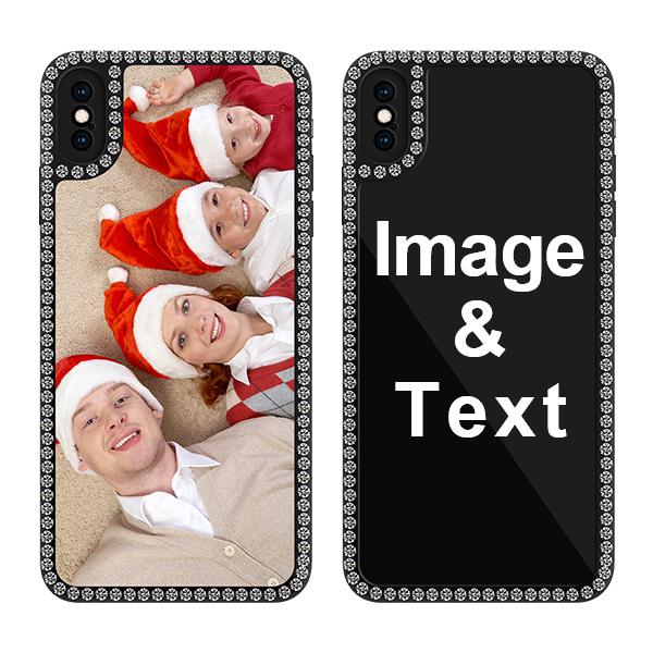 Custom for iPhone XS Max Bling Rhinestone Case