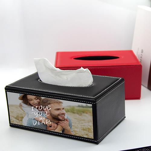 Custom Leather Tissue Box Cover