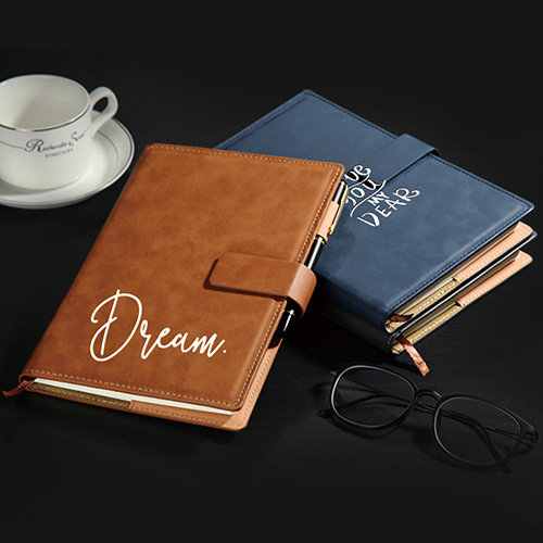 Custom Leather Signature Notebook With Snap