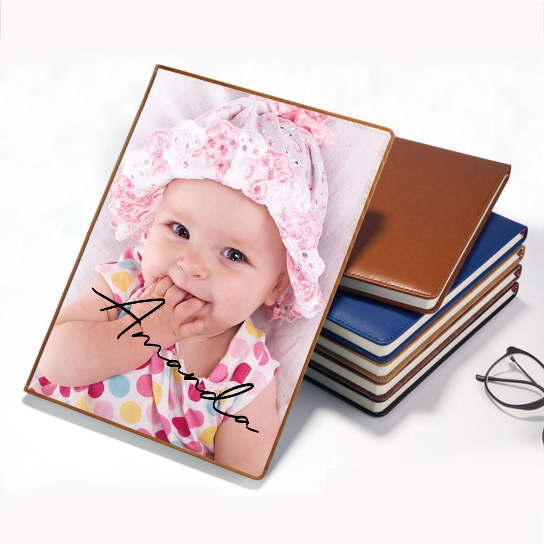 Custom Leather Photo Notebook