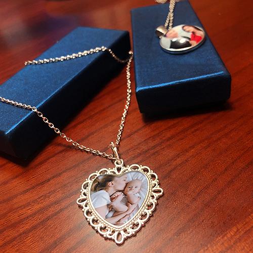 Custom Heart Photo Pendant