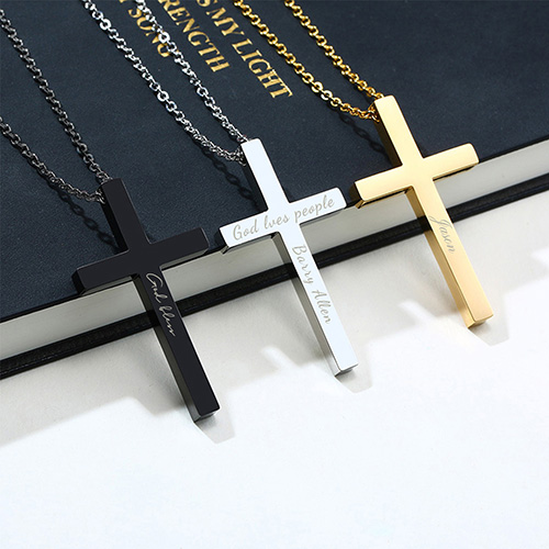 Personalised Monogram 3D Cross Necklace