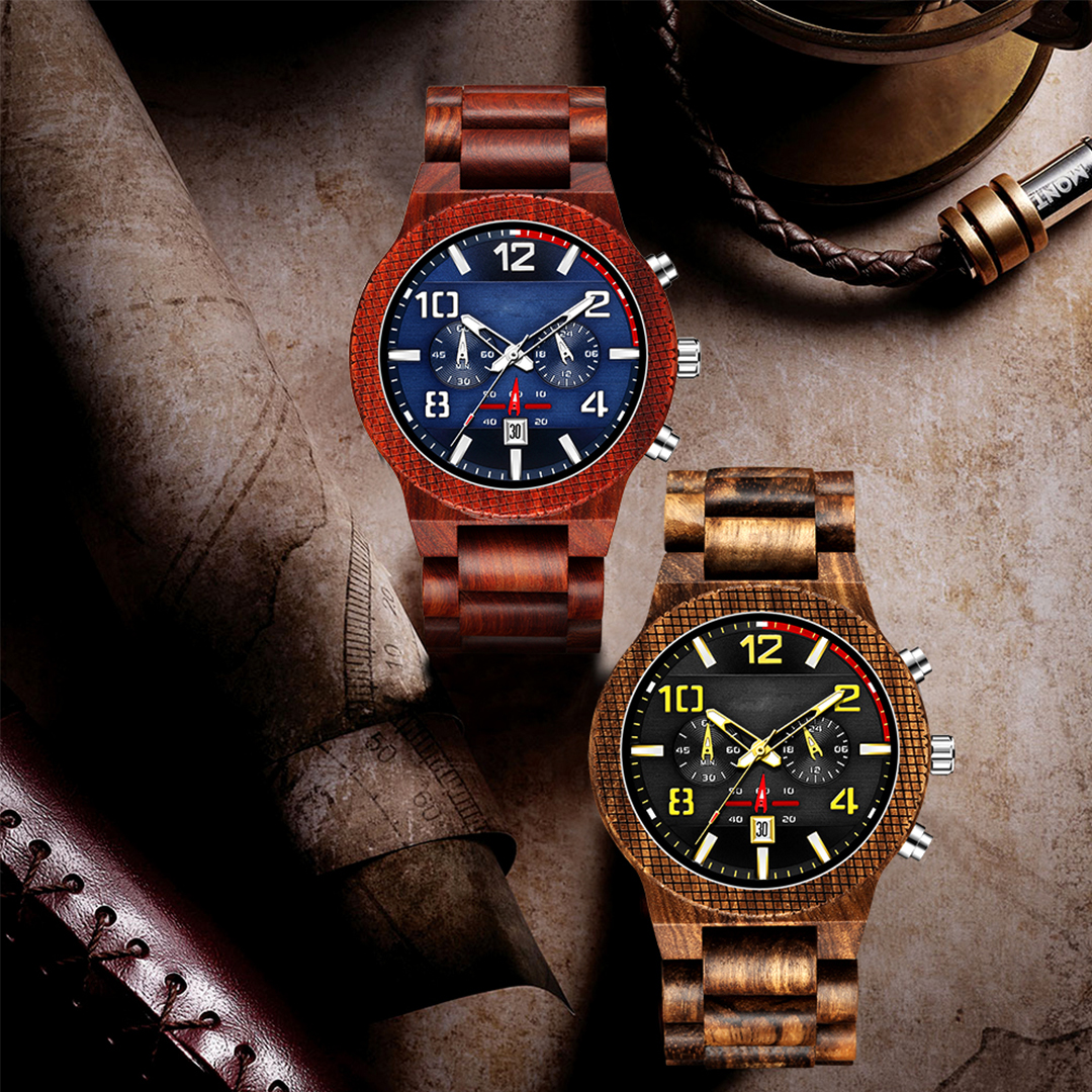 Personalized Text Wooden Watches [1015]